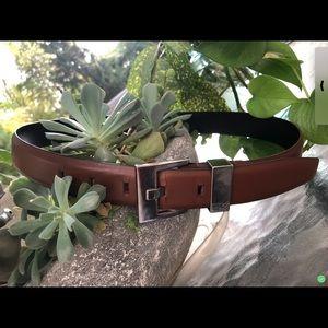 Calvin Klein Women's 100% Leather Brown Belt